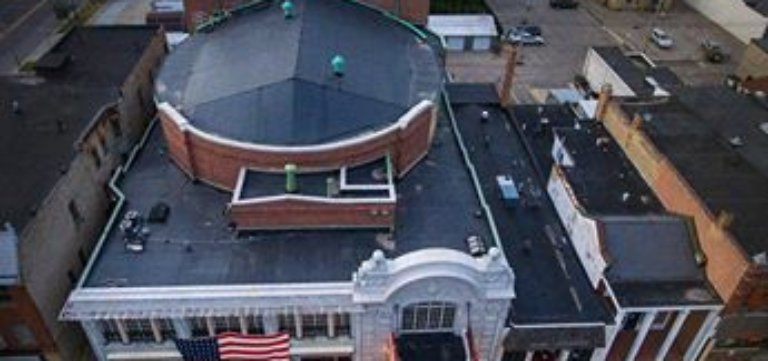 Rubber Roofing on Al Ringling Theater in Baraboo Wisconsin