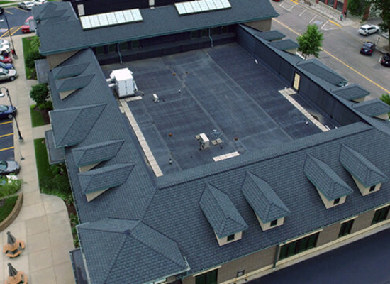 Bank of Wisconsin Dells new roofing