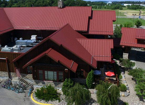 Buffalo Phils aerial view new roofing