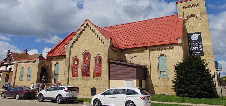 Rubber And Metal Roofing Portage Preforming Arts Center in Portage Wisconsin